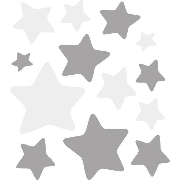 Pack supplémentaire - Étoiles gris pointes arrondies