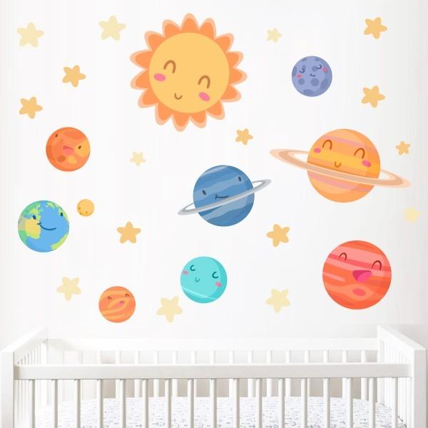 Planètes enfants - Stickers muraux