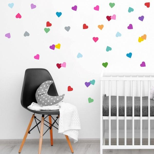 Confetti cœurs - Sticker muraux