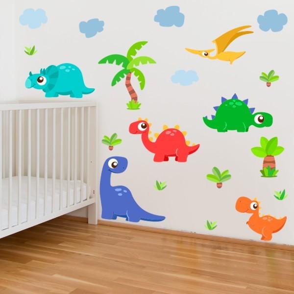 Super dinosaures - Sticker muraux chambre bébé