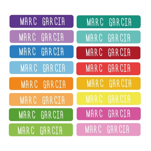 Model confeti - Etiquetes multiús rectangulars - Mini