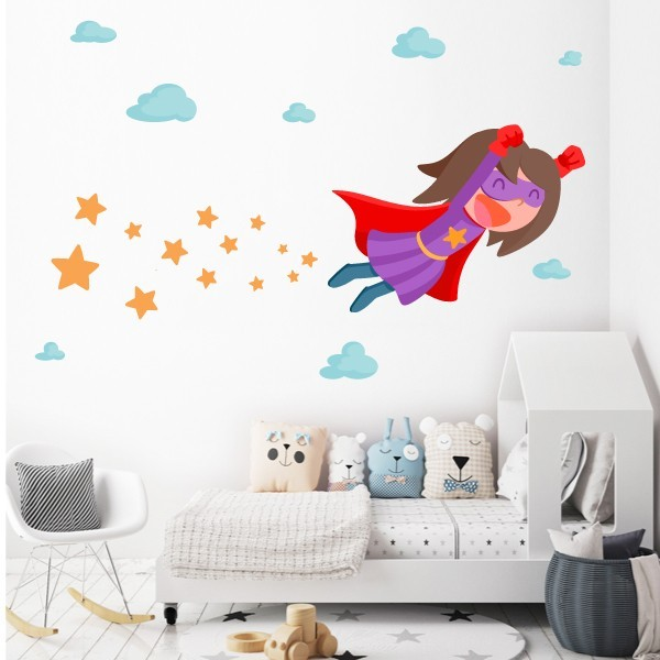 Superhéros fille StarStick - Sticker muraux