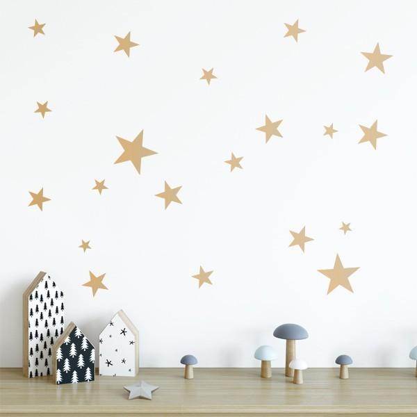 50 Étoiles d'Or - Sticker muraux