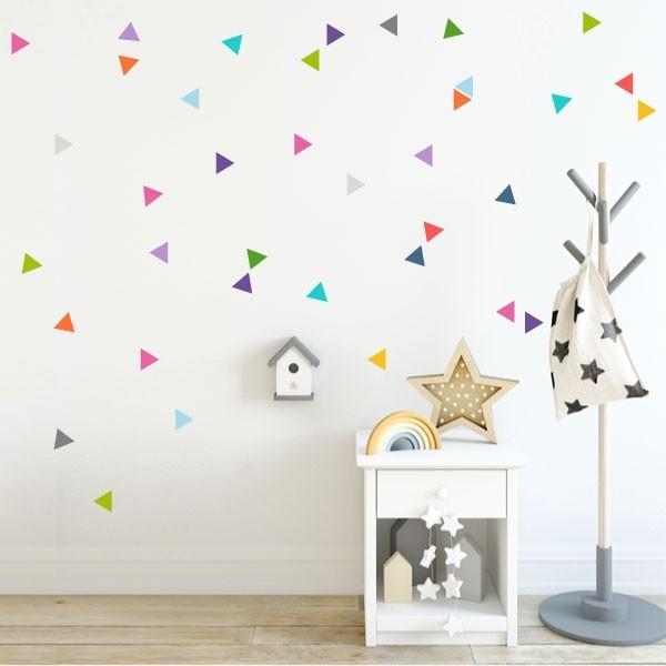 Triángulos nórdicos de colores - Vinilos bebé