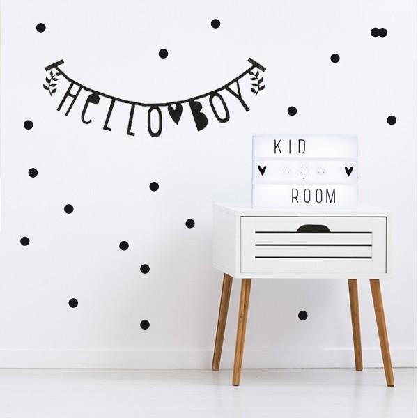 Guirnalda de letras negras - Letter Banner - Decoración bebé