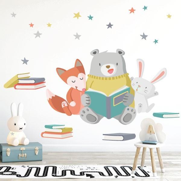 Vinils infantils - Animals llegint