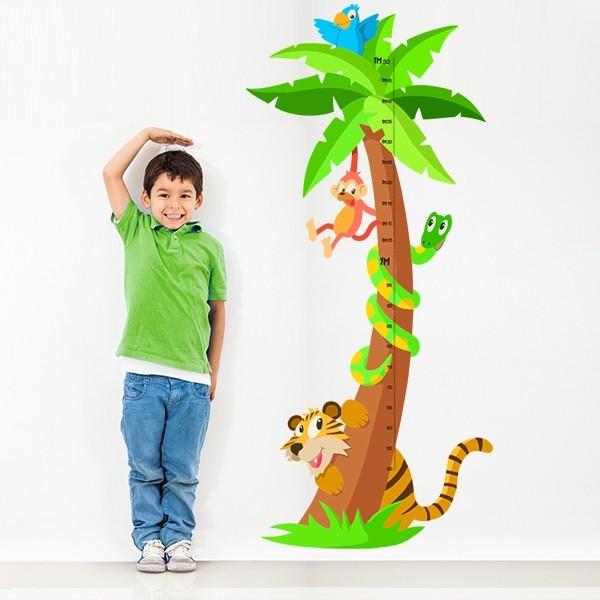 Messgerät Dschungel - Wandtatoo für kinder